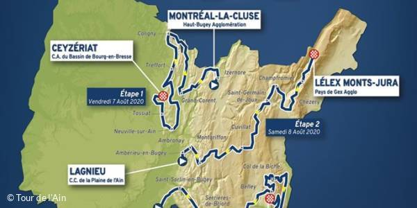 3rd stage of Tour de l'Ain 2020: Saint-Vulbas - Grand Colombier