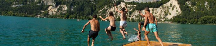 Swimming in Nantua lake